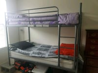 white metal bunk bed with mattresses Woodbridge, 22192