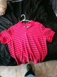 red and white striped polo shirt San Elizario, 79849