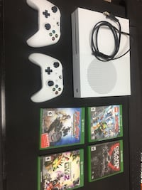 XBox One S with controllers and 4 games Waynesboro, 17268
