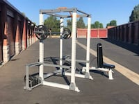 fitnessgear pro full/squat rack gym equ. with weights Simi Valley, 93063