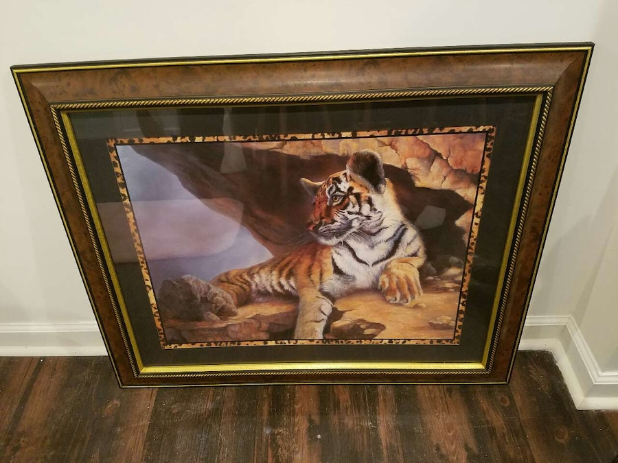 Used Home Interior U0026 Gifts Tiger Picture In Watseka