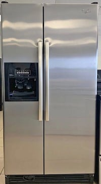 FREE DELIVERY! Whirlpool Refrigerator Fridge Stainless Steel Works Perfect #995