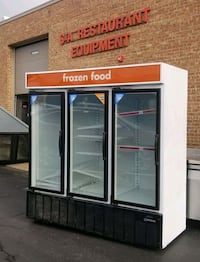 3 Section Display FREEZER Commercial Restaurant Glass Door