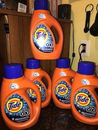 three Tide detergent bottles and two Tide bottles Manassas, 20109