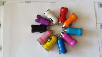 assorted color usb single car chargers