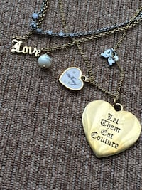 Juicy Couture layered heart necklace gold & silver Adorable Juicy Couture layered  Calgary, T3E 6L9