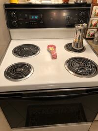 White and black 4-coil electric range oven Vaughan, L6A