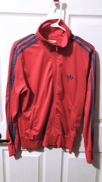 Red adidas zip-up jacket Toronto, M9W 7C2