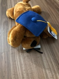 Plush Graduation Dog with Tags