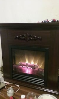 Cherry red wood electric fireplace Knoxville, 37914
