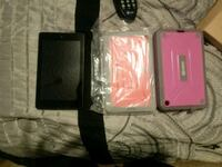 Amazon Fire tablet with two cases