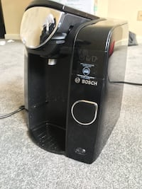 black and gray Bosch coffee maker