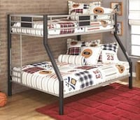Dinsmore Twin/Full Bunk Bed in Black/Gray Houston, 77019