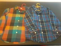 two multicolored button-up collared long-sleeve shirts Calgary, T2V 0N2