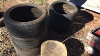 """5 19"""" tires for summer. Low tread but great for not wearing down your good tires."""