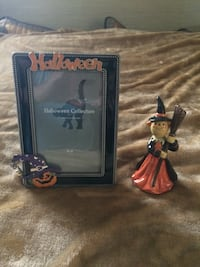 New Halloween Picture Frame and Witch Hampton, 23663