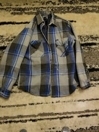 blue and gray plaid button-up collared long-sleeved shirt Grand Bay-Westfield, E5K 1G6