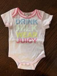 Juicy couture baby onesie sz 3-6 mos nwt retail $35 price firm Toronto, M5K 1A1
