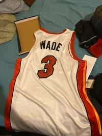 Size 52 D Wade Miami Heat Jersey
