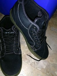 pair of black leather lace-up boots Corpus Christi, 78415