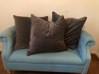 gray fabric sofa with throw pillows North Bethesda