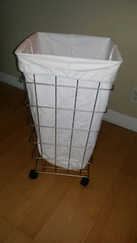 Crate and Barrel Nickel Laundry basket