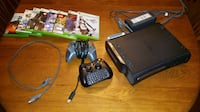 Xbox 360 120GB with 2 controllers and 8 games St. Albert