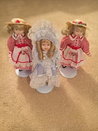 3 early 1990's porcelain dolls Annandale, 22003