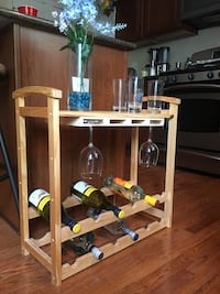 Perfect wine glass and wine bottle table. Mundelein, 60060