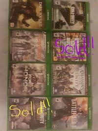 Various Like New/Mint condition popular Xbox One g