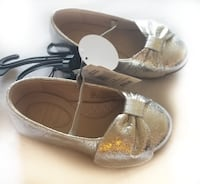 Girl's Closed Toe Leatherette Flat Heel Flats Girl Shoes With Bowknot Rhinestone. Oakville