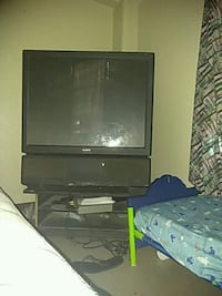 black CRT TV with black wooden TV stand Corpus Christi, 78408