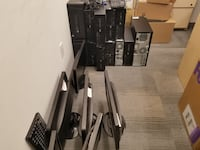 """Lot of 12 Working HP Computers + 6x 22"""" Widescreen LCD screens - Win 10 & Office New York"""