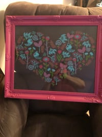 Pink and green floral photo frame Cicero, 13039