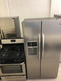 stainless steel side-by-side refrigerator with dispenser Chicago, 60609