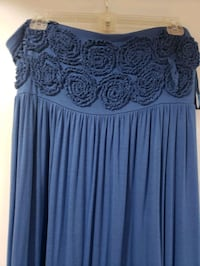 Cotton blue maxi dress size XLG used in good condition 8.00 Fairfield, 17320