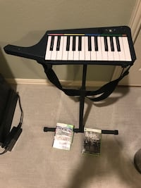 Rockband 3 keyboard stand, game and Beatles game Southlake, 76092