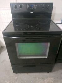 Black Whirlpool Glass Top Stove Range- DELIVERY AVAILABLE