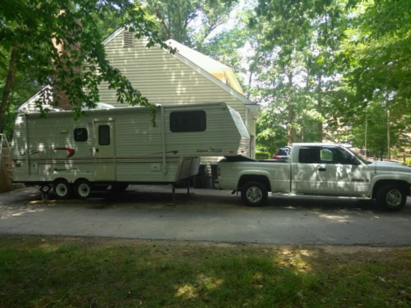 Dodge Ram 2500 And 24' 5th Wheel Camping Trailer 1028b915-d8df-4584-93e8-fc29b9394be1