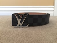 black and brown Louis Vuitton leather belt 3690 km