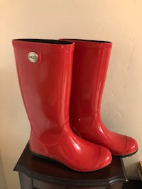 UGG red rain boots, Naturalizer boots
