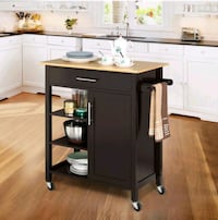 Yaheetech Rolling Kitchen Cart