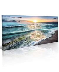 Wall Art  Picture Canvas Wall Art Print Paintings Modern Artwork for Living Room Wall Decor and Home Décor Framed Ready to Hang,2cm Thick Frame, Waterproof Artwork Eastvale, 92880