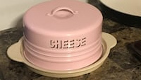 pink and white Cheese lid