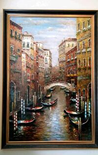 Beautiful large painting of Italy's Venice Canal Vaughan, L0J