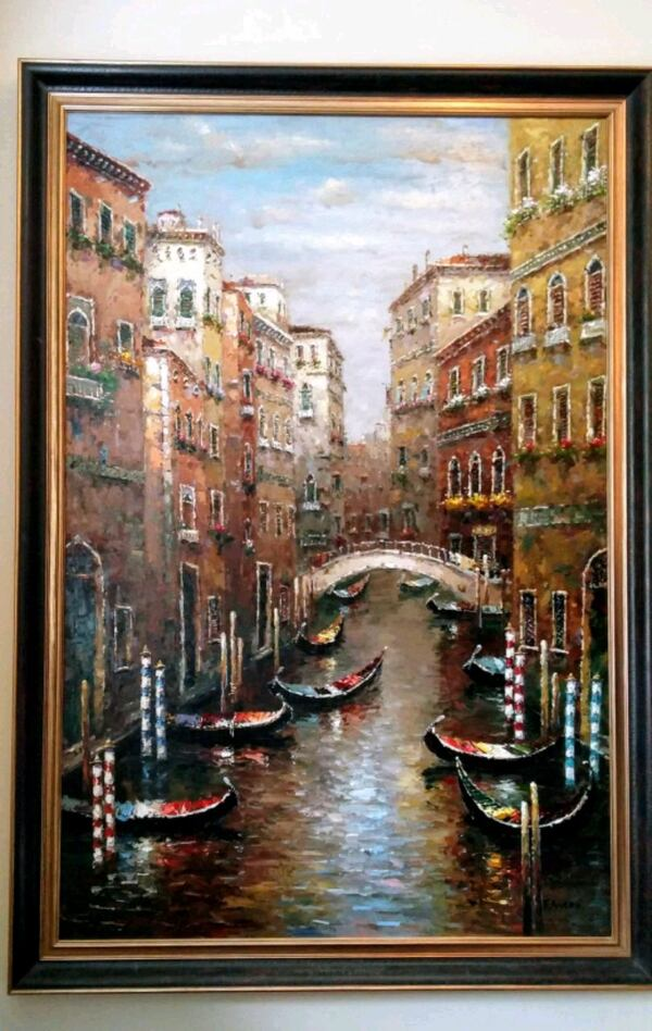 Beautiful large painting of Italy's Venice Canal a948488a-75ea-4030-9c90-421c5247adc9