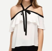 women's black and white halter blouse Toronto, M6C 1V6