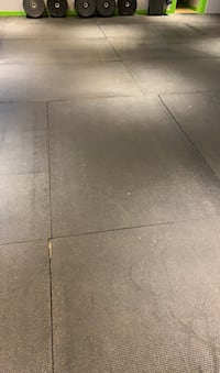 Black rubber flooring for gym or garage floor. 46 pieces at $30/piece