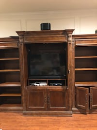 Brown wooden tv hutch-TV NOT INCLUDED Plano, 75023