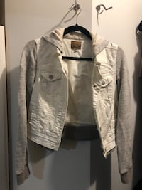 White Hooded Jean Jacket  Surrey, V3S 7P4